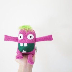 cute tiny pink monster toy for girls