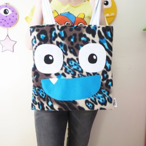 snow leopard monster trick or treat tote