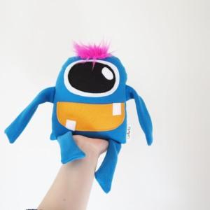 cute blue stuffed monster toy for little boys