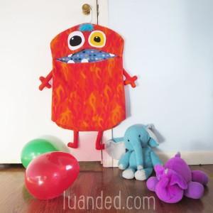 cute red monster hamper