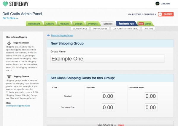 storenvy, shipping, usps, setting up shipping on Storenvy