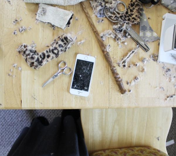 sewing, iphone, crafting, studio, wip