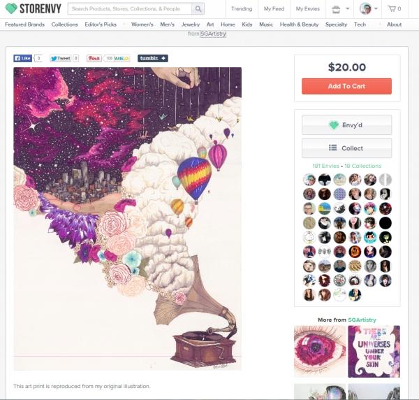 art, print, galaxy, storenvy