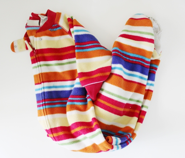 upcycle, sewing, craft, baby, pajamas, ecofriendly