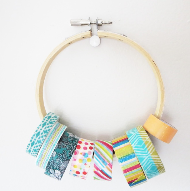 washi tape, storage, craft room, cute, colorful