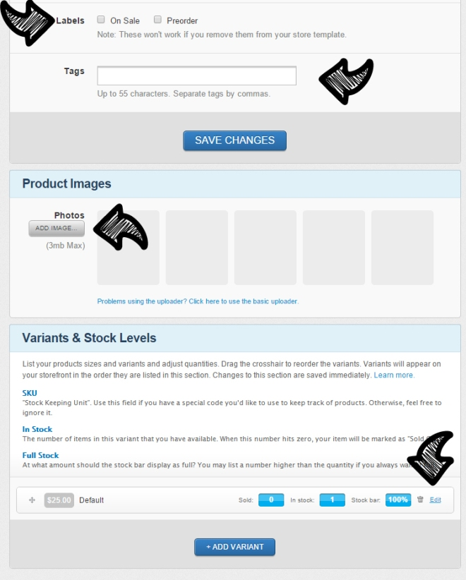 how to add tags on Storenvy