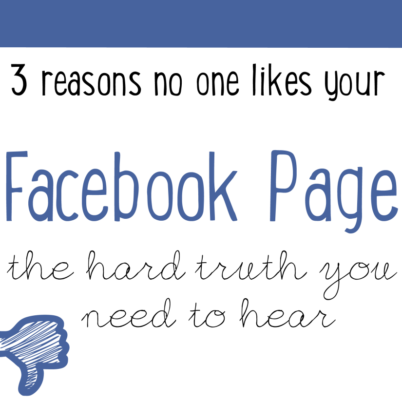3 reasons no likes your Facebook Page