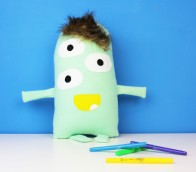 cute mint giant stuffed monster toy for kids