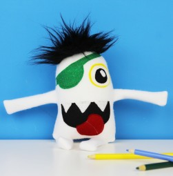 cute pirate stuffed monster toy