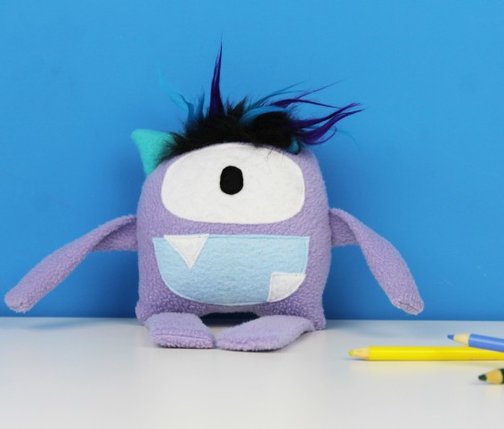 handmade purple monster toy