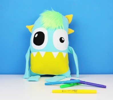 light blue monster toy for baby toddler little boy