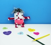 cute heart monster toy for valentine's day
