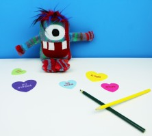cute stripey monster toy